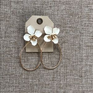 Anthropologie floral statement earrings